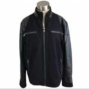 Calvin Klein Moto Racer Jacket Black Medium